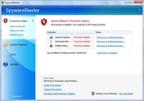 SpywareBlaster لحماية جهازك الملفات الضارة