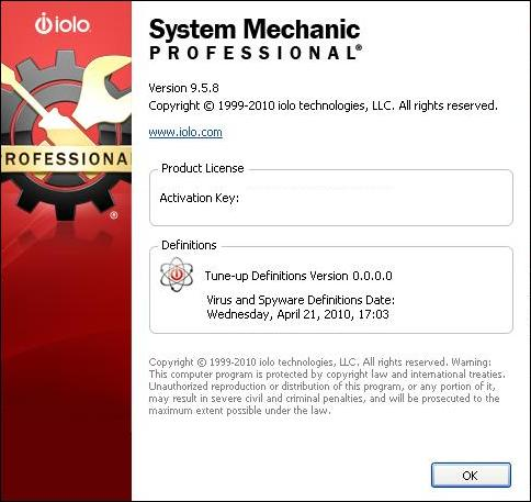 Windows applications. Cracks and Serials. System Mechanic Pro v9.5.9